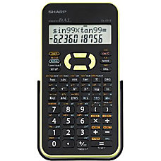 Sharp EL 531XBGR Scientific Calculator BlackGreen