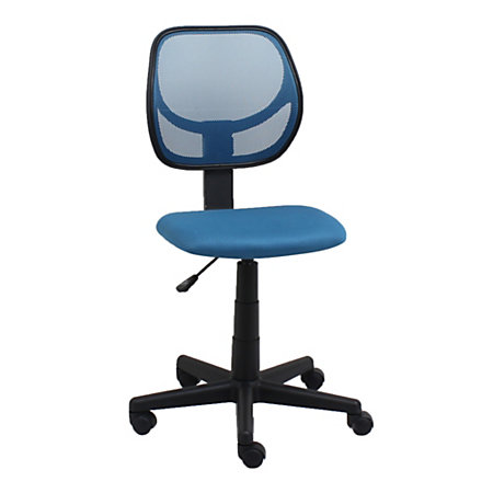 ofm essentials armless meshfabric low back task chair blueblack by office depot officemax. Black Bedroom Furniture Sets. Home Design Ideas