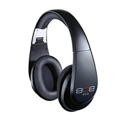 808 Duo Bluetooth Wireless Over The Ear Headphones Black