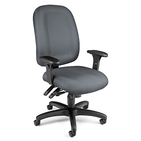 OFM Ergonomic Mid Back Task Chair GrayBlack By Office Depot OfficeMax