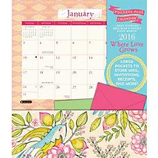 Orange Circle Studio Pockets Plus Calendar