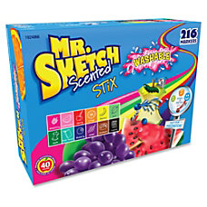 Mr Sketch Scented Stix Washable Markers