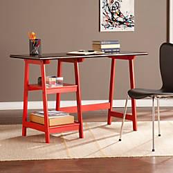Southern Enterprises Langston Desk EspressoRed