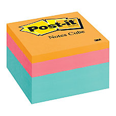 Post it Notes Designer Memo Cube