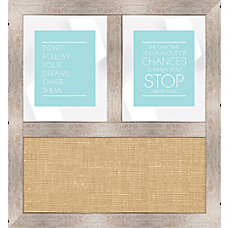 PTM Images Framed Mirror Burlap Board