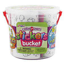 Artskills Color Your Own Sticker Bucket