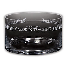 Career In Teaching Petite Crystal Bowl