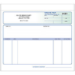 Purchase Order Forms Unruled 2 Part