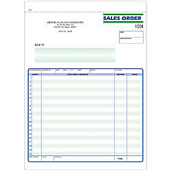 Sales Order Forms Ruled 3 Part