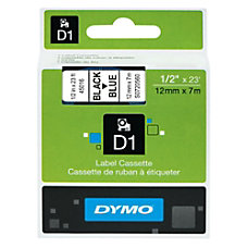 DYMO D1 45016 Black On Blue