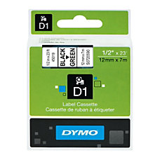 DYMO D1 45019 Black On Green