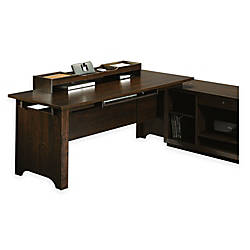 "Sauder® Forte Collection Desk Return, 28 3/5""H x 71 1/10""W x 29 1/4""D, Dark Alder"
