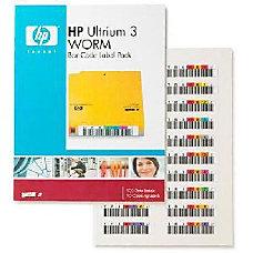 HP Ultrium 3 WORM Bar Code