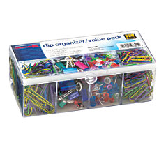 Officemate Clip Organizer Set Assorted Colors