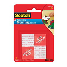 Scotch Removable Foam Mounting Squares 1