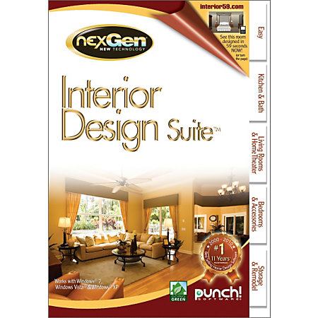 Punch Interior Design Suite With Nextgen Technology Traditional Disc By Office Depot Officemax
