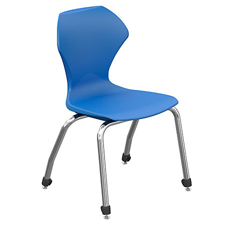 Marco Group Apex Series Stacking Chair 18 Seat Height BlueChrome By Office De