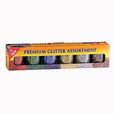 Hygloss Glitter Assortments 075 Oz Assorted