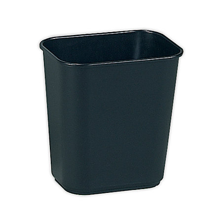 rubbermaid durable polyethylene wastebasket 3 14 gallons 123l black by office depot officemax black newell office depot