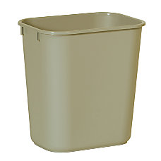 Rubbermaid Durable Polyethylene Wastebasket 3 14