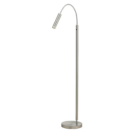 Adesso eos led floor lamp 62 h satin steel by office depot for Led floor lamps for office