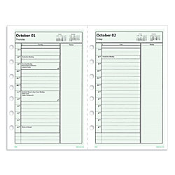 Day Timer Print Your Own Pages Planner Refill 5 12 X 8 12