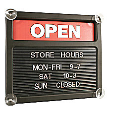 Tabbee Brand Double Sided OpenClosed Message