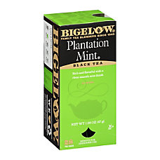 Bigelow Plantation Mint Tea Bags Box