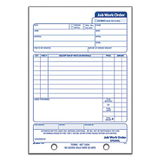 Adams Carbonless Job Work Order Book