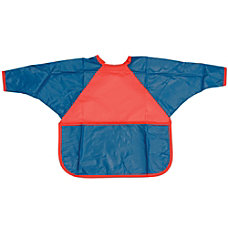 Childrens Factory Washable Smocks Small RedBlue