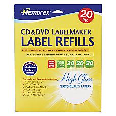 Memorex Inkjet CDDVD Photo Gloss Labels