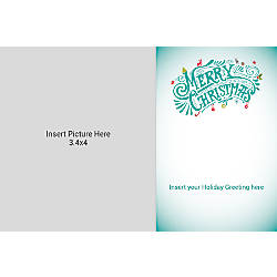 Photo Greeting Card Horizontal Multi Merry