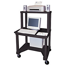 Tuffy Mobile Computer Workstation 3 Shelf