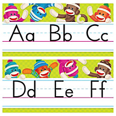 Trend Sock Monkeys Alphabet Line Standard