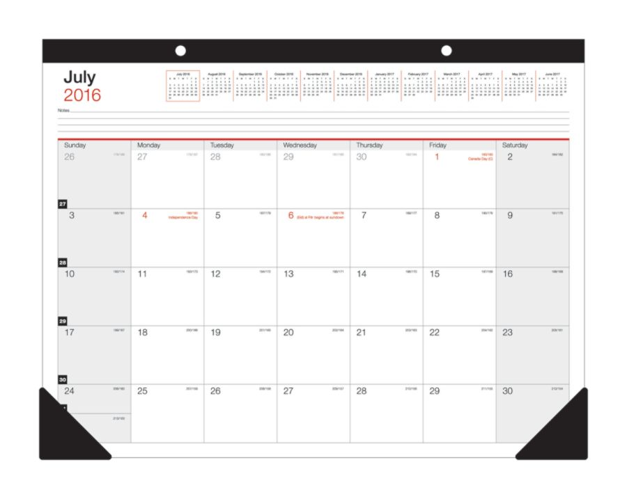 office depot brand large monthly desk pad calendar 22 x 17