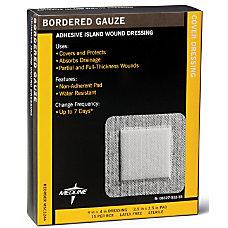 Medline Sterile Border Gauze Pads 4