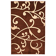 Lavish Home Area Rug Berber Leaves