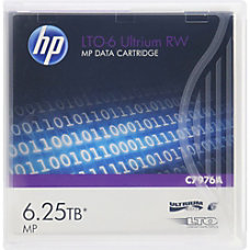 HP LTO 6 Ultrium 625TB MP