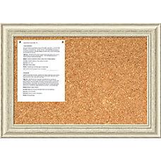 Amanti Art Country Whitewash Cork Bulletin