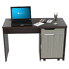 Inval Swing Out Storage Desk Espresso