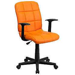 Flash Furniture Quilted Vinyl Mid Back