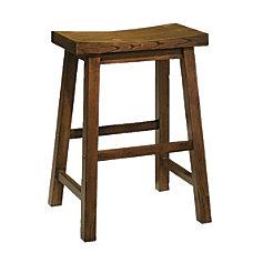 Powell Saddle Counter Stool Honey Brown