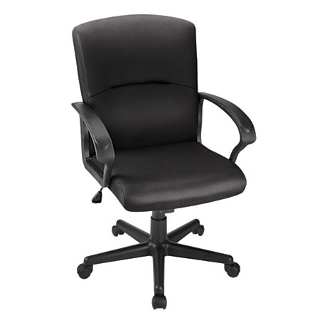 Brenton Studio Mid Back Fabric Task Chair Black By Office Depot OfficeMax