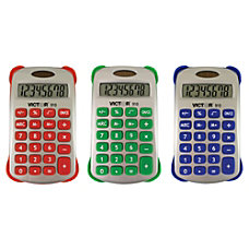 Victor Colorful 8 Digit Handheld Calculators
