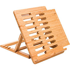 Lipper Bamboo Expandable iPad Stand