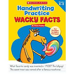 Scholastic Teacher Resources Handwriting Practice Wacky