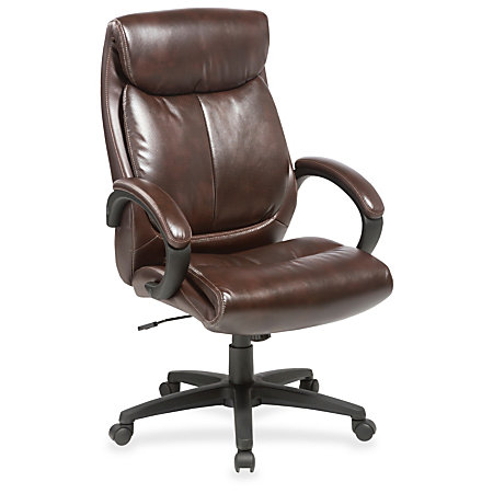 Lorell Executive Chair Brown Seat Brown Back 28 Width X 31 8 Depth X 45 5 Hei