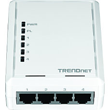 TRENDnet 4 Port Powerline 500 AV
