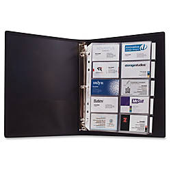 Anglers 3 Ring Business Card Binder