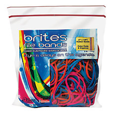 Alliance Brites File Bands Assorted Bag